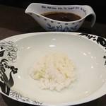 LIQUOR&CURRY 将1 - ご飯は小分けで食べる