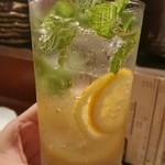 魚金 - レモンサワー(ミント)340円 アプリで半額