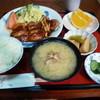 居酒屋きく乃家 - 料理写真:鶏肉としめじの照り焼き定食850円