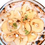 ☆デザートピッツァ☆リンゴのハニーチーズ