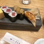 築地寿司岩 - 江戸前握り松3380円(税込み)。穴子は、口の中でとろける仕上がりで、旨味も十分あり、とても美味しかったです(╹◡╹)