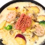おすすめ♪焼きタラコとほくほくサツマイモ根菜クリーム