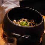 日本料理 晴山 - 舞茸ご飯