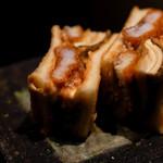 日本料理 晴山 - 鱧松茸天サンド