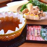 京都 瓢喜 - 料理写真:2019秋限定*松茸・紅葉鯛・京都ぽーくの秋鍋