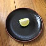 ちっきん - 秋刀魚らあめん 酢橘