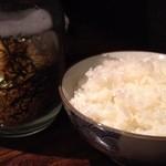 らーめん処かんむりや - 白飯w/海苔玉