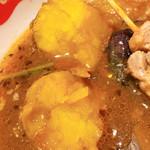 スープカレー すあげ天神 - インカのめざめ サツマイモのような色ですがジャガイモです