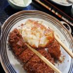 とんかつ ひのや - 料理写真:かにクリームコロッケ150円