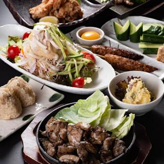 霧島鶏や宮崎牛の逸品は、ランチでもお召し上がりいただけます!