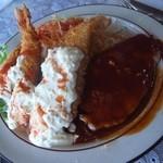 グリル緑 - 料理写真:緑定食