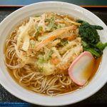 小諸そば - かき揚げそば¥350 2012.2.16