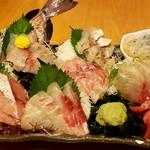 酒菜食彩 七福 - 五点盛り