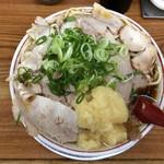 ゆうらい - ニンニクちゃあしゅうめん ふたたま 800円(2019年10月) 麺の固さスープの濃さなど好みにどストライクの一杯!マスターすごい!