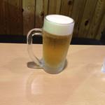 ラーメンちゃん - ドリンク写真:とりあえず ビールのパパ ハンドルキーパーはずっと私(^_^;