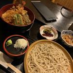 三平 - せいろと天丼セット1000円