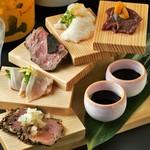 金山肉割烹 肉の権之助 - 肉刺しらせん階段 5種