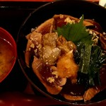 116669651 - 秋茄子とさっぱりポン酢の鰹漬け丼