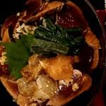 116669655 - 秋茄子とさっぱりポン酢の鰹漬け丼