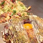 まま家 - 料理写真:特製 まま家焼(千切りモダン焼)