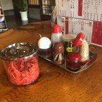 田主丸ラーメン 五炉 - 卓上調味料