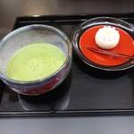 松栄堂 - 上生菓子と抹茶セット810円(税込)