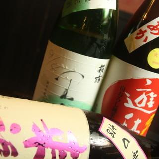 滋賀の地酒をメインに。