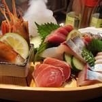 ぶえんもゆかり - 料理写真:お刺身 ごっ魂(たましい)盛り  二人前 1500円 味良しコスパ良し