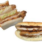 勝時 - 料理写真:限定販売のとり勝サンドとジャンボ勝パン