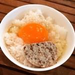 油そば専門店 麺処一龍庵 - TKG+ポルチーニバター