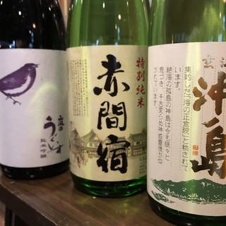 様々な地域の日本酒を取り揃え