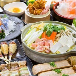 安くて旨い♪名物の塩ちゃんこ鍋付き食べ放題コース2980円~