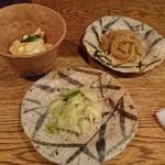 海山 - 小鉢と漬物