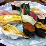 八王子総合卸売センター 市場寿司 たか - おまかせ にぎり1,000円