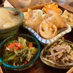 天然食堂 かふぅ - ヘルシーなんだけど、ところどころにしっかりと味付けもされており、大変食べやすかったです(^O^)