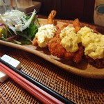 インディ庵 - 料理写真:・プリプリ海老&ズッキーニフライ550円(税込)