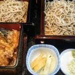 手打ちそば 山商 - 天丼とセイロセット大盛1310円