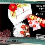 スウィーツ ラボ ミルク - ホワイトデー限定セット!!女性が喜ぶこと間違いなし。お花屋さんセレクトの生花付きです。