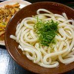 さぬきうどんNRE&めりけんや - かけ(並)¥290+野菜かき揚げ¥120