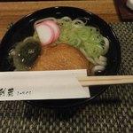 食楽茶屋 舎利蔵 - 九州 八木山うどん使用の「薩摩天うどん」1
