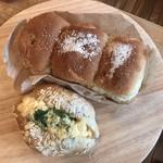 おうちパン - 料理写真:くるみパンとたまごロール