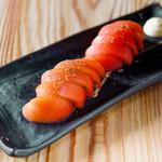 学芸大学前 肉寿司 - 冷やしトマト