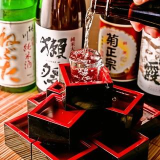 こだわりの日本酒多数♪