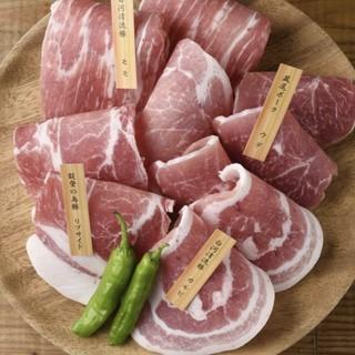 こだわりの銘柄豚を焼肉で味わう。お持ち帰りもできます。
