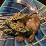 鉄板焼さわふじ - 久米島産車海老と県産おくらのマヨネーズソース焼き