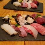 立ち寿司 杉尾 - サイズは小さめ
