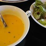 銀嶺 - ランチはスープとサラダつき!