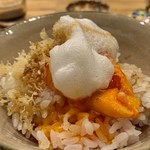 ご馳走 ね音 - 天ぷら屋の卵かけご飯