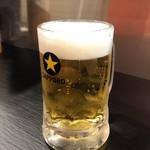 116757836 - 生ビールはサッポロ黒ラベル