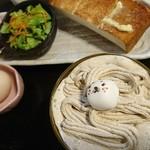 桜山 珈琲 - パンはこれくらいの焦げ具合が好みです♪友達もどうやらそうだったらしい